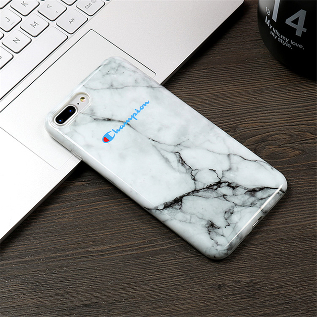 0f51f7e4669b4e Champion Brand Marble Camouflage Soft IMD Phone Case For iPhone 7 ...