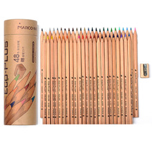 Эко-Плюс цветные карандаши. 24/48 шт гексагональной Цветные Карандаши, (с дерево Точилка Для Карандашей) Ярких цветов для Детей и Взрослых.