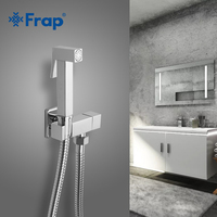 FARP Bidets solid brass single cold water corner valve bidet toilet function square hand shower head tap crane 90 degree switch