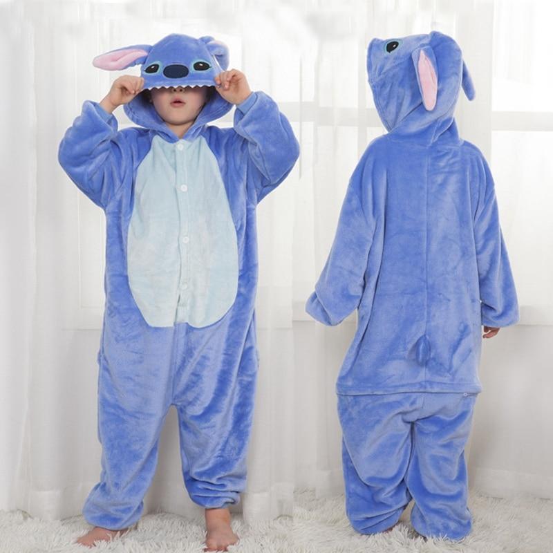 Kigurumi Flannel Stitch Pajamas Unicornio Animal Children Pajamas For Boys Girls Baby Pyjamas Kids Onesies Cartoon Sleepwear