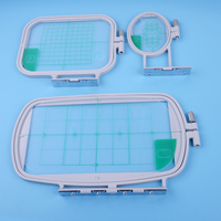 LETAOSK 3Pcs Embroidery Hoops Set Kit Fit for Brother SE350 SE400 PE500 Sewing Machine