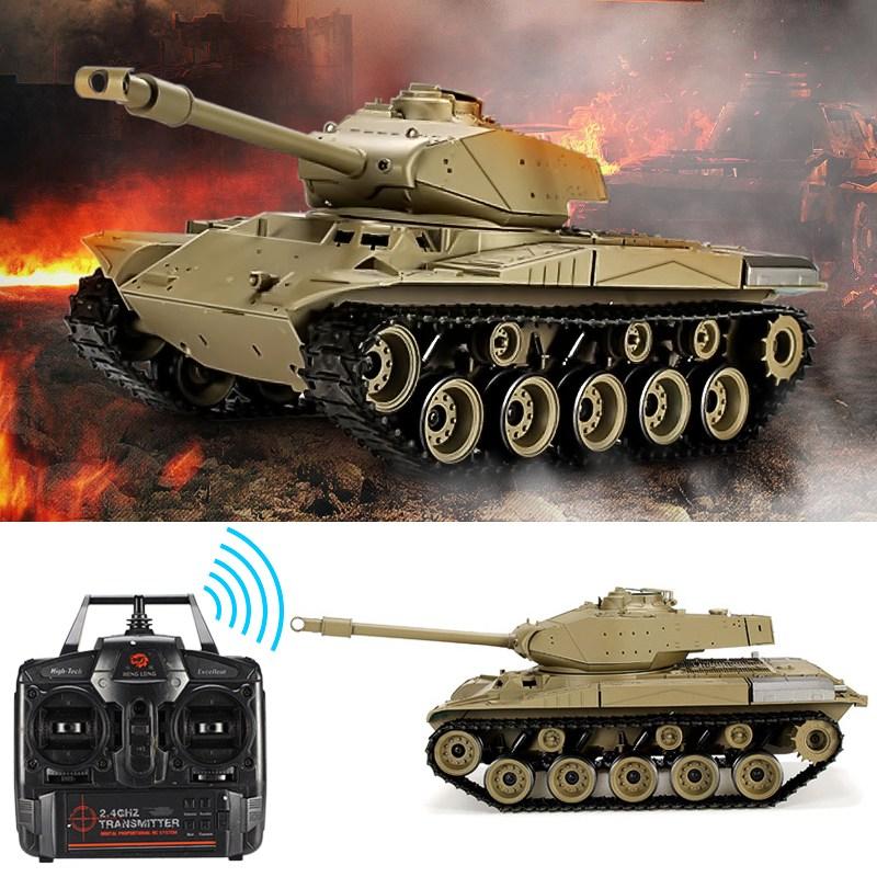 Heng Long 3839-1 2.4G 1/16 US M41A3 Walker Bulldog Light Tank RC Battle Tank цена