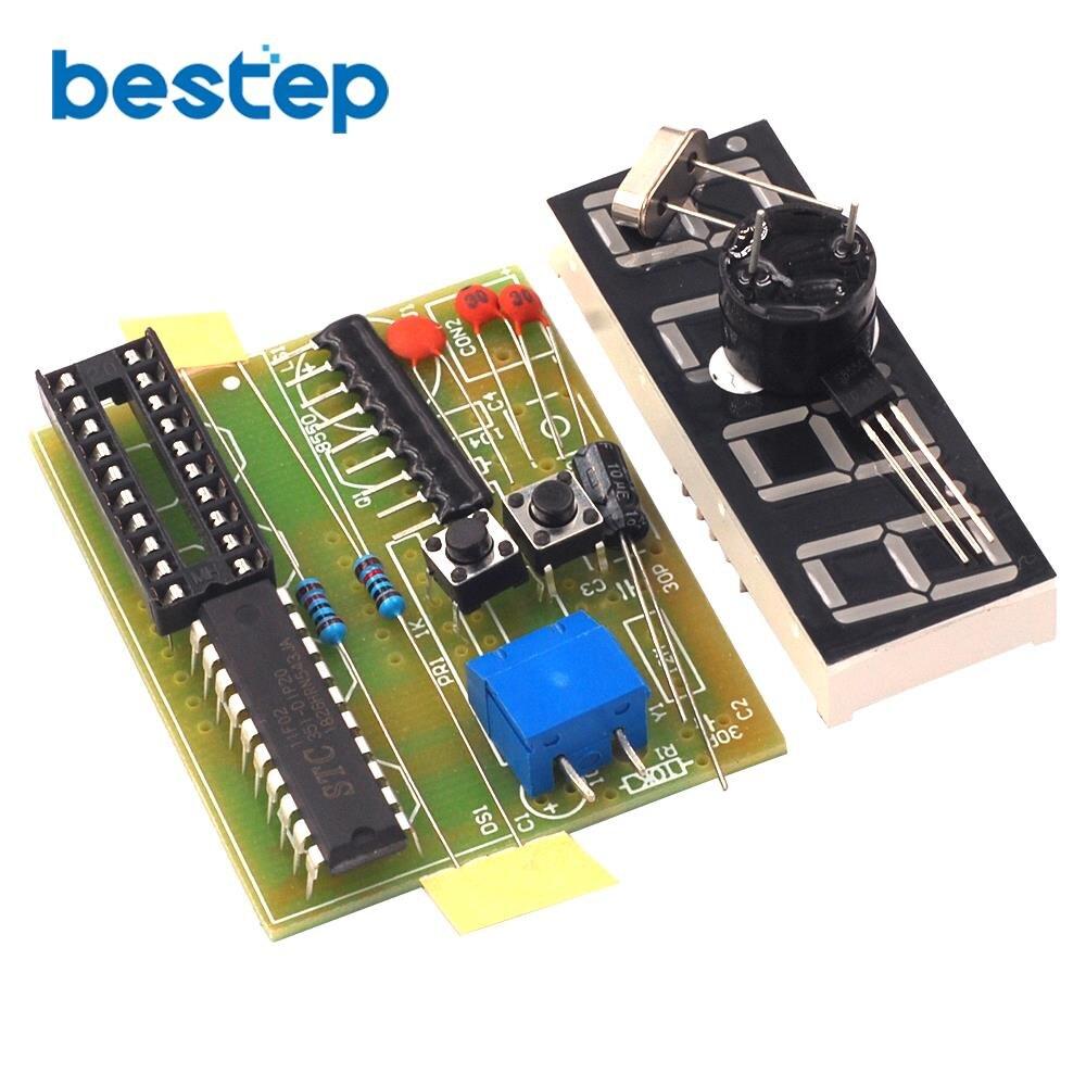 1a195062ba3b Alta calidad C51 4 Bits reloj electrónico producción electrónica Suite Kits  DIY C51 reloj electrónico