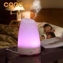CRDC VIDA Aroma Humidificador de Aire Por Ultrasonidos Con Cambio de 7 Colores LED Luces Eléctrica Aromaterapia Aceite Esencial Difusor de Aroma