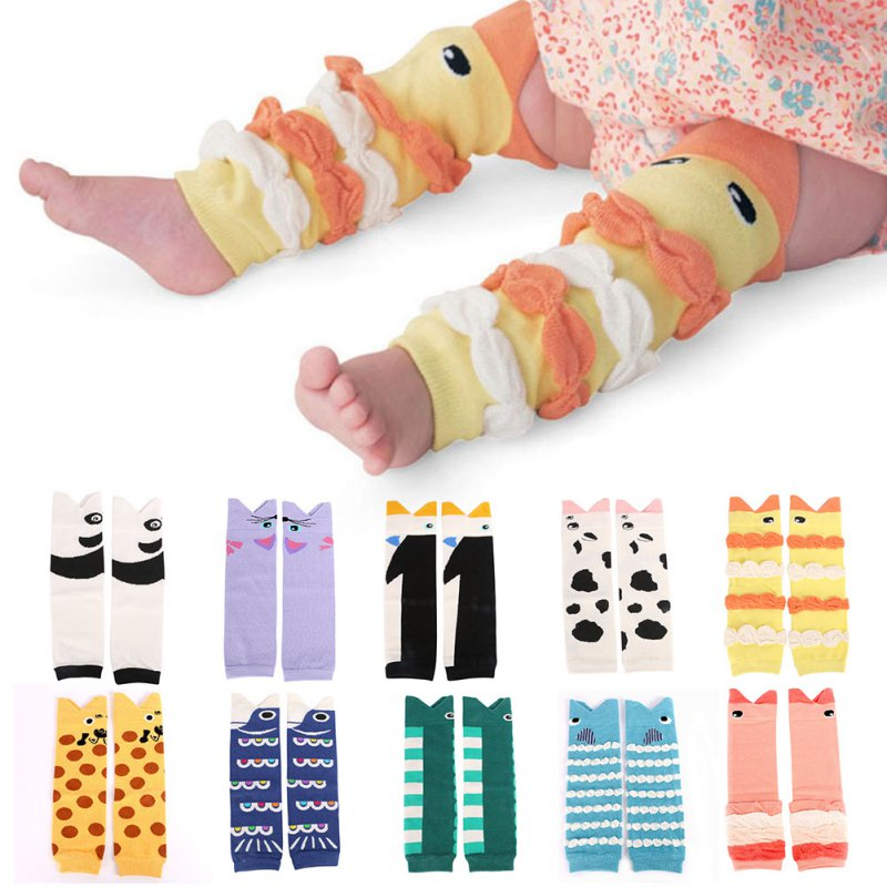 Children Baby Boy Girls Infant Leggings Warmers Kids Cartoon Pattern Knee Pad