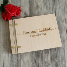 Уникальная деревенская Выгравированная Свадебная Гостевая книга, Заказная деревянная Свадебная Гостевая книга, индивидуальный скрипт знак в альбоме