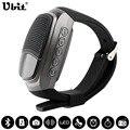 Ubit b90 sports bluetooth speaker chamada hands-free tocando tf rádio fm auto-temporizador falantes sem fio smart watch exibição de tempo