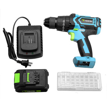 Tonfon Multi-purpose 3 in 1 20V Rechargable Impact Drill Cordless Electric Screwdriver Drill With Bits