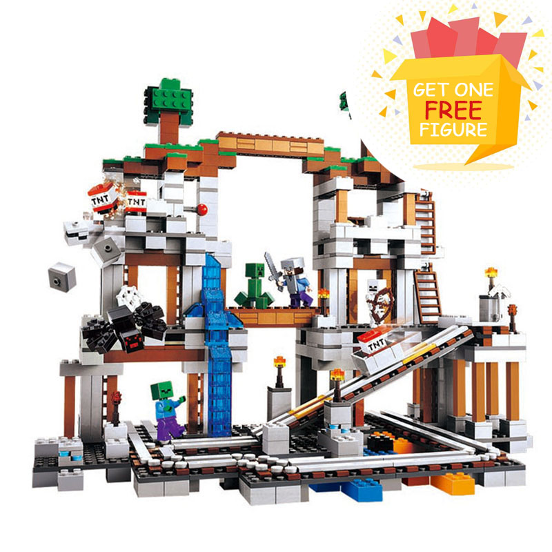 Bela Pogo Compatible Legoe Minecrafte My World Zombies Building Blocks Bricks toys for children 922pcs Compatible 21118
