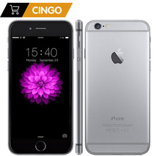 Apple Unlocked Original iPhone 6 / iPhone 6 Plus 16/64/128 GB ROM 1 GB RAM 4,7 och 5,5 skärm iOS9 telefon 8MP / Pixel LTE Mobiltelefon