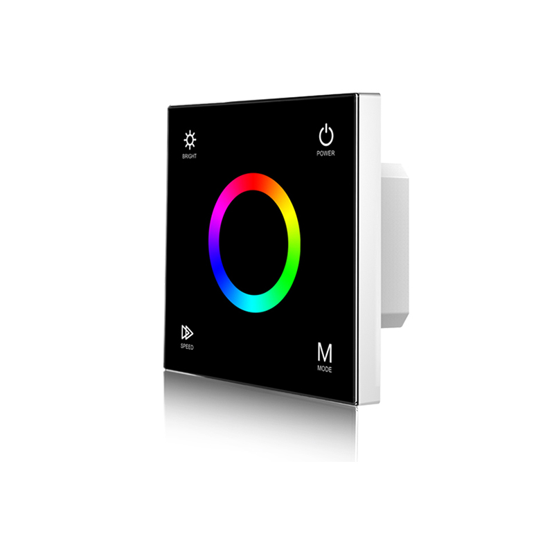 New RGB Strip Controller Wall mounted touch panel glass panel dimmer switch Controller for DC12V 24V LED Strip RGB Controller|RGB Controlers| |  - title=