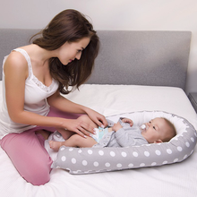 80*50cm Baby Nest Bed Portable Crib Travel Bed Infant Toddler Cotton Cradle for Newborn Baby Detachable and Washable Bassinet woven baby cradle bassinet for newborn sleeping basket crib bassinet cradle travel car seat cradle portable baby bassinet basket