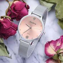 Fashion Women Watch Silver Mesh Band Creative Marble Wrist Casual Quartz Watches Gift Relogio Feminino