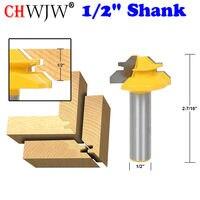 Small Lock Miter Router Bit 45 Degree 1 2 Stock 1 2 Shank Tenon Cutter