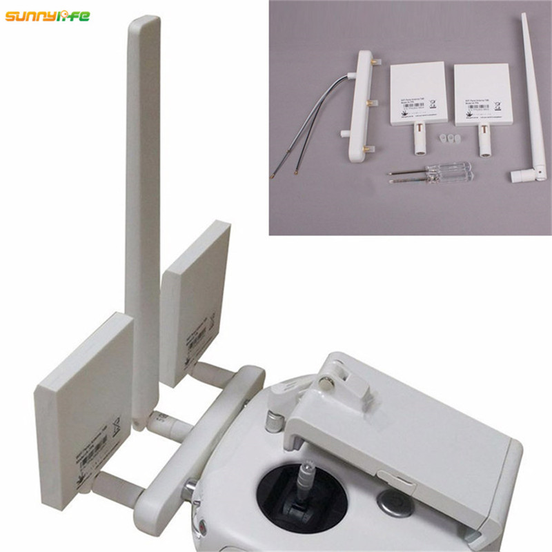 DJI Phantom 3 4K Remote Controller WIFI Panel Antenna 7dBi Enhanced Signal Booster Long Range Transmission Antenna sunnylife dji phantom 3 4k remote controller range extender antenna enhanced singal booster refitting kit for dji phantom 3 4k
