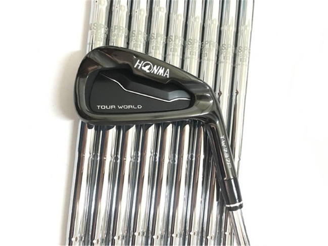 Honma TW737P Iron Set Black Honma Golf Irons Honma Tour World Golf Clubs 3-11Sw R/S Flex Steel/Graphite Shaft With Head Cover