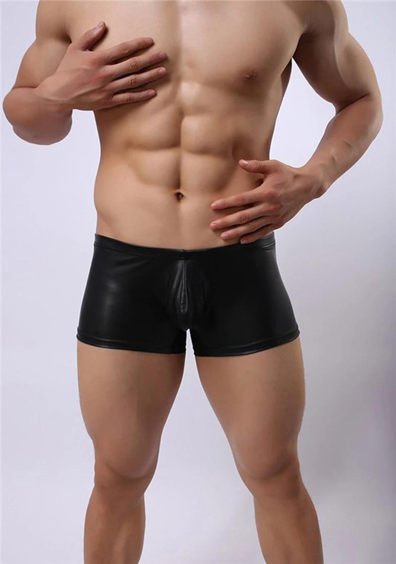 Boxer De Piel Sintetica Negro Sexi Para Hombre Pantalones Cortos Geniales Estilo Punk Ropa Interior Ajustada Para Hombre Ropa Interior Sexy Para Hombre Leather Boxer Shorts Leather Boxerboxer Shorts Aliexpress