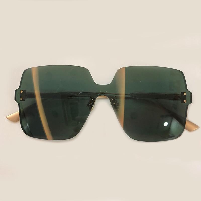 Retro Square Sunglasses Women 2019 Brand Designer Metal Frame Oversized Sun Glasses Fashion Female Gradient Shades
