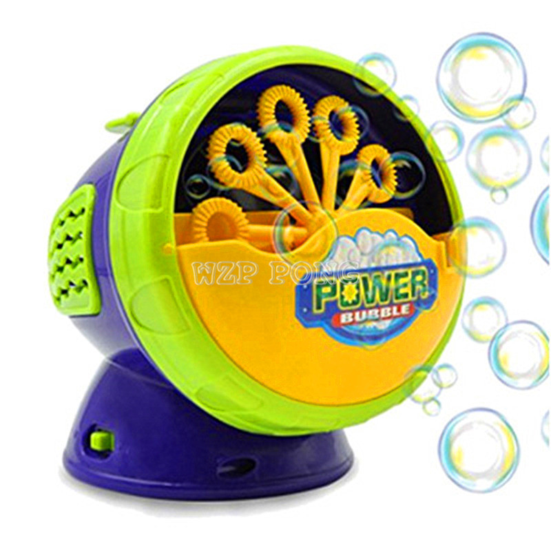 Girls Summer Outdoor Toy Bubble Machine Toys For Kids  Electronic Automatic Soap Bubbles Plastic Bubble Machine For Kids Gift