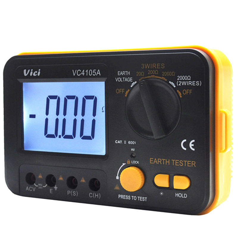 Vici VC4105A digital earth resistance tester ground resistance tester lightning rod measuring instrument a spirited resistance