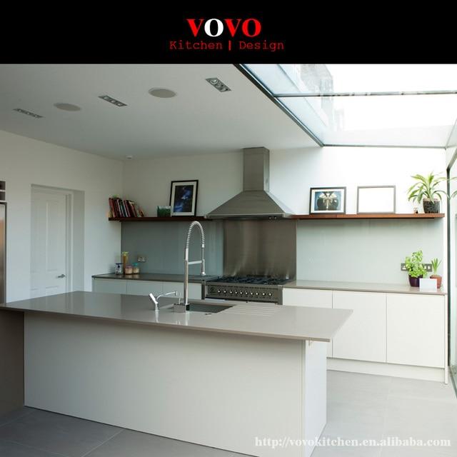 White High Gloss Kitchen Islands Modern