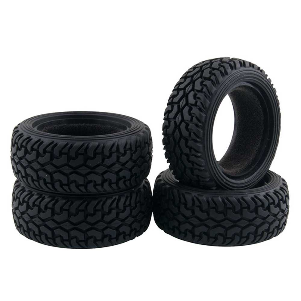 4 stks Hoge Prestaties RC Rally Auto Black Grain Rubber Tyre Wheel Banden voor 1:10 4WD RC On Road Car tamiya HSP HPI Kyosho