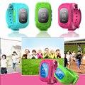 As crianças Assistem Q50 GSM GPRS GPS Tracker Garoto Smartwatch inteligente Anti Perdido Pulseira para IOS Android Crianças Localizador Localizador Rastreador