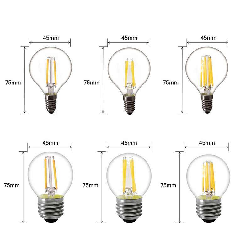 220V E14 LED Bulb 220V E27 LED Filament Bulb E27 LED Lamp Replace 25w 40w 50w Incandescent E27 A60 bombilla Edison Lamp