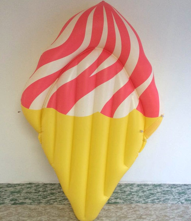 Giant 180*120cm Icecream Pool Floating Row Inflatable Toy Summer Hot Beach Party Water Toys Air Mattress Rafts