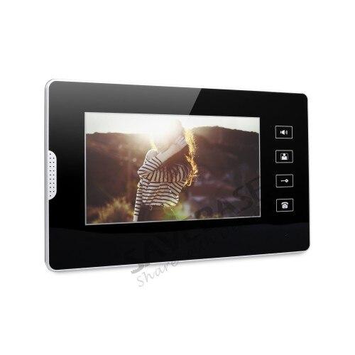 HOMSECUR 7-дюймовый проводной двери видео запись вызова Системы с ИК Ночное видение для дома безопасности
