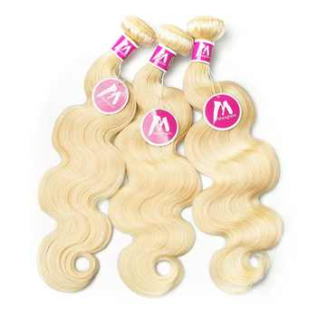 Blonde 613 Human Hair Bundles With Frontal Closure Brazilian Body Wave Hair Extension Short Long Remy Hair Weave For Black Women