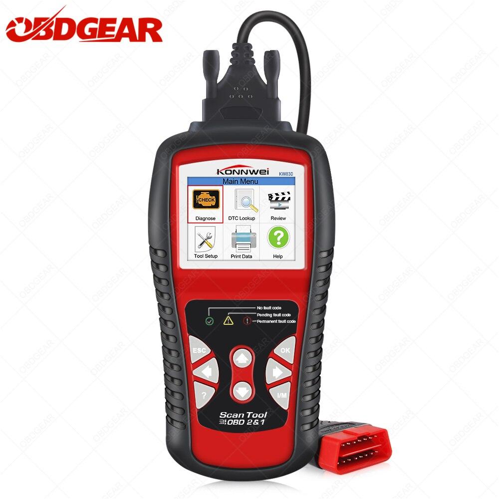 Scanner automobile KONNWEI 830 OBD2 pour outil de Diagnostic de voiture lecteur de Code d'erreur automatique universel KW830 Scanner de Diagnostic de voiture