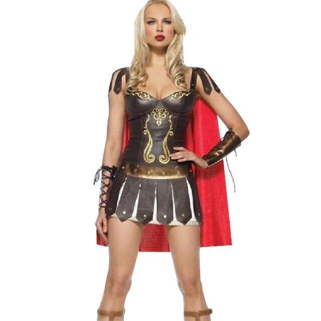 Señoras xena warrior gladiador romano griego princesa romana spartan traje  atractivo de las mujeres de cosplay d2456965216c