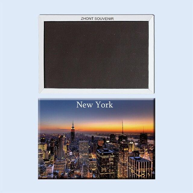 """מזכרות נסיעות הלילה יפה ניו יורק ארה""""ב 22998 מקרר מגנטי"""