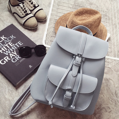 Miyahouse PU Leather Backpacks Trendy Female Drawstring Travel Bags Retro School Bags Women High Quality Rucksack Mochila