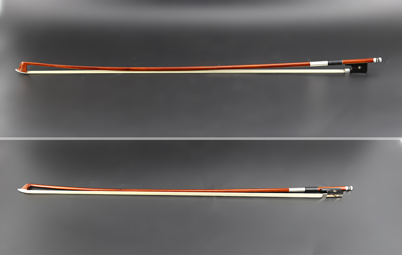 4 4 Size Pernambuco Violin Bow Master Level String Musical Instrument Ebony Frog White Copper Part Silver Mounted Warm Tone in Violin Parts Accessories from Sports Entertainment
