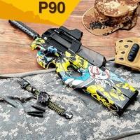 P90 Graffiti Edition Electric Toy GUN Water Bullet Bursts Gun Live CS Assault Snipe Weapon Outdoor