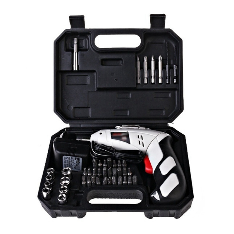 цена на Urijk 4.8V Electric Screwdriver Kit Parafusadeira Chargeable Battery Cordless Drill DIY Power Tools With 43 Bits Hand Tool Set