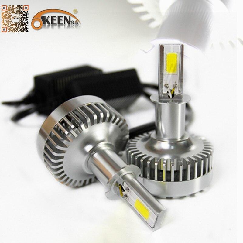 40W 3600Lm IP65 Car Motorcycle LED Headlight Kit 6000K White Bulb H1 H3 H4 H7 9005 9006 Epistar COB Aluminum Fan Low High Beam