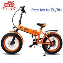 """20 """"4,0 дюйм. Толщина шина Электрический велосипед 48V12A литиевая батарея электрический велосипед алюминиевый складной 500 Вт Мощный горный Снежный велосипед"""