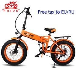 20 4.0 pollici Fat Tire bici Elettrica 48V12A Batteria Al Litio bicicletta elettrica Pieghevole In Alluminio 500 W Potente Neve In Montagna ebike