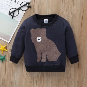 Image 3 - new born baby cartoon bear clothes set long sleeve Sweater+stripe romper+pants 2020 autumn outfit newborn boy clothing winter