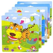 Cute Cartoon Animal Wooden Puzzle Intelligence Kids Educational Baby Toys Gift Brain Teaser Children Tangram Shapes