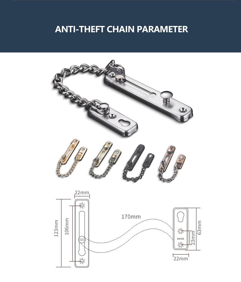 Door lock door chain bolt-parameter