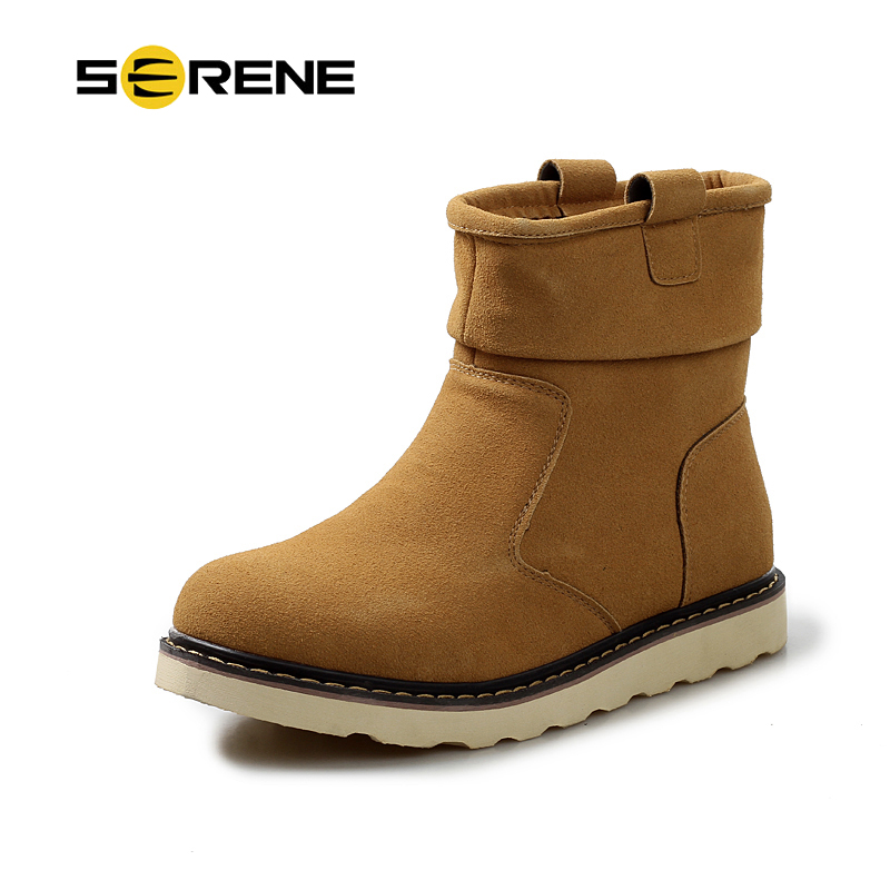 Brand SERENE 2018 Winter New Arrival Men Casual Snow Boots With Fur Fashion Ankle Boots 3 Color Available Free Shipping HH 012