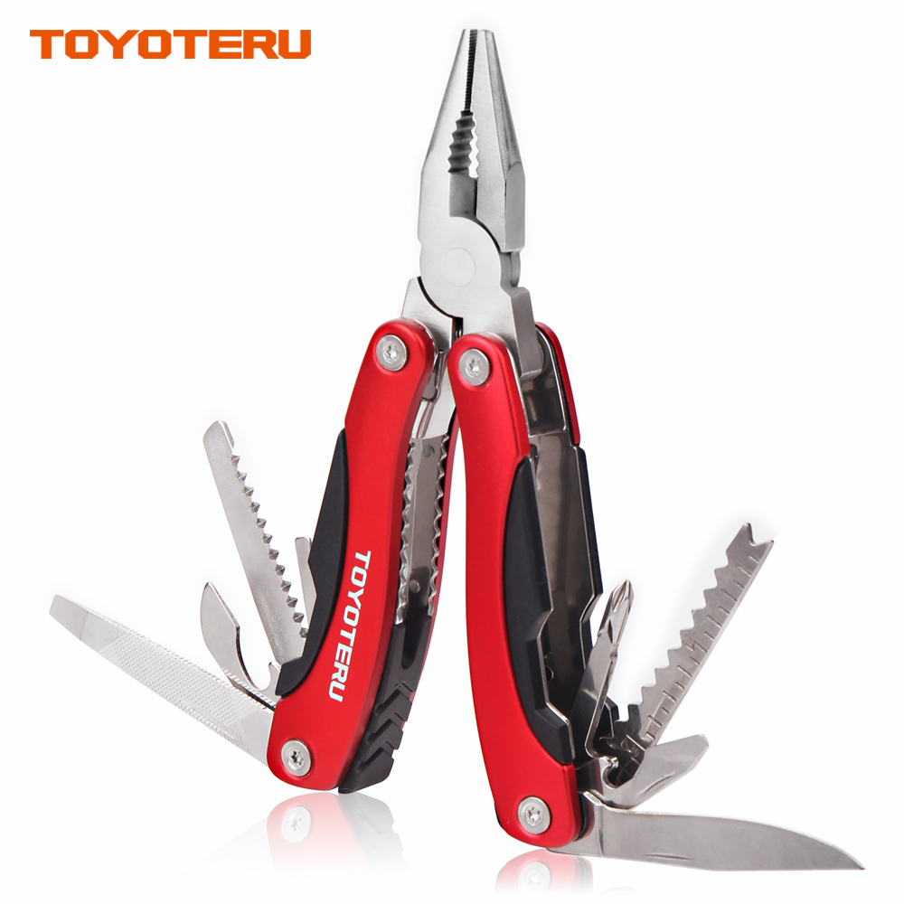 TOYOTERU 14 in 1 MultiTool Multi Purpose Pliers, Knife, Ruler, Cable Cutter, Needle Nose Pliers, Saw, File, Screwdrivers