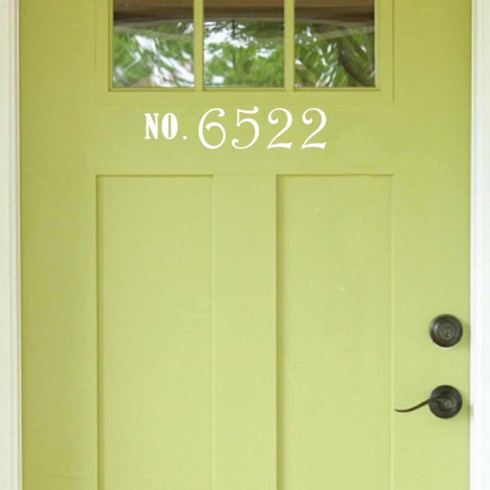 6f6bb60d11dd ... Custom Door Numbers Vinyl Front Door Address Sticker Outdoor Decor ...