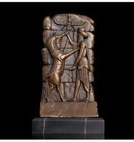 Художественная бронзовая скульптура, украшение для дома, бронзовая абстрактная рельефная Статуэтка для стола, Рождественский Декор, декор