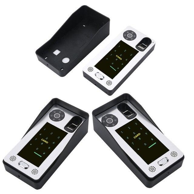 SmartYIBA-moniteur vidéo filaire 7 pouces | Porte téléphone, KIT dinterphone, empreintes digitales RFID mot de passe avec 2 moniteurs