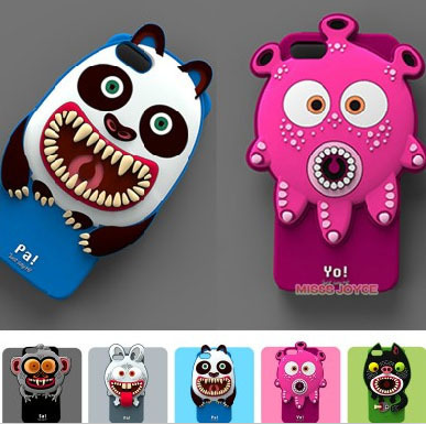 the latest fed59 4bc8e US $6.49 |3D animal cartoon cover case for iphone 5 5S 5C 5G Airzooo  Monster family silicone cover case monster high free shipping on  Aliexpress.com | ...
